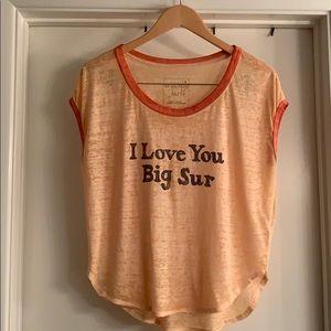 """I Love You Big Sur"" Tee"